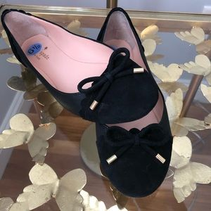 Kate Spade Leather and Suede Ballet Flats w/ Bow